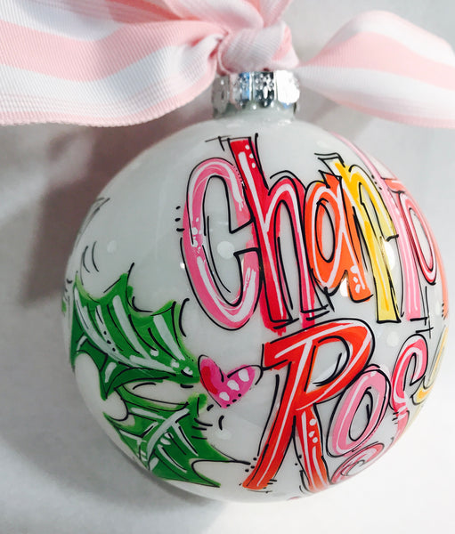 PERSONALIZED 'Name in Brights' Ornament