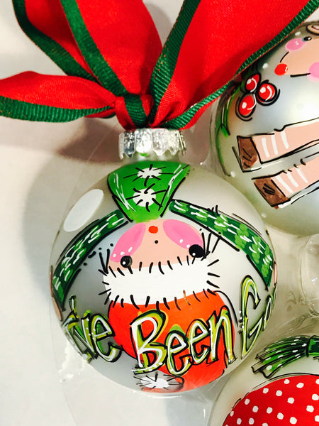 PERSONALIZED ELF 'Upside Down' Ornament