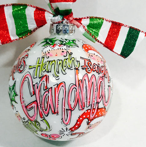 ORNAMENT, PERSONALIZED FAMILY KEEPSAKE Ornament