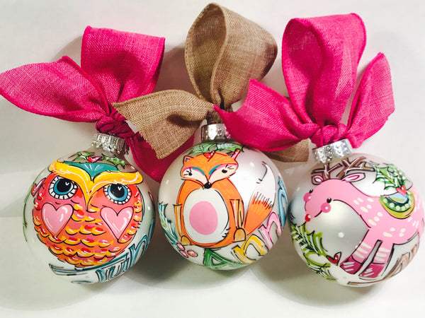 ORNAMENT, PERSONALIZED  OWL Ornament