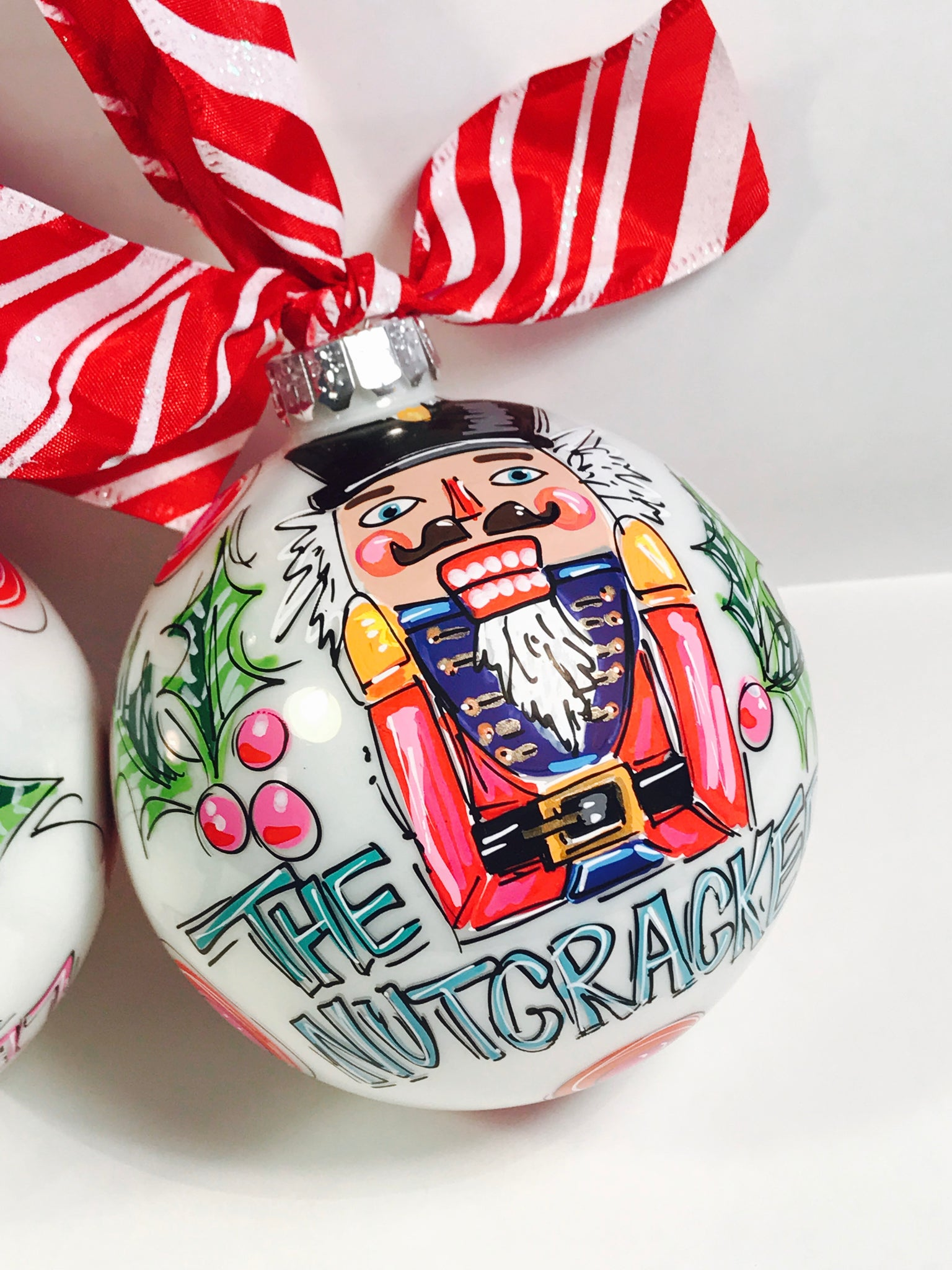 Hand painted nutcracker ornament