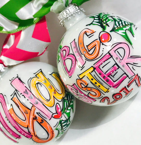 PERSONANLIZED BIG SIS/BRO Ornament