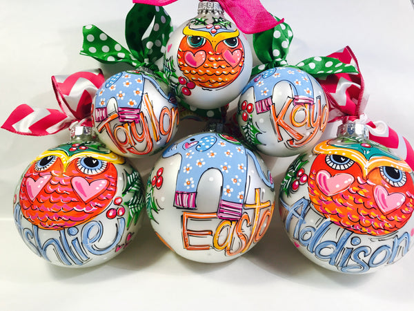 PERSONALIZED  OWL Ornament
