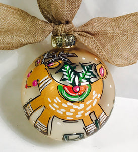 PERSONALIZED WOODLAND DEER Ornament