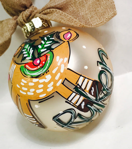 ORNAMENT, PERSONALIZED WOODLAND DEER Ornament