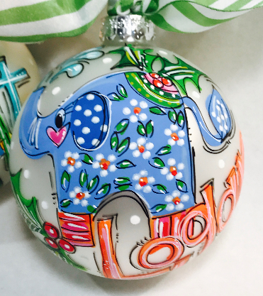 ORNAMENT, PERSONALIZED ELEPHANT Ornament
