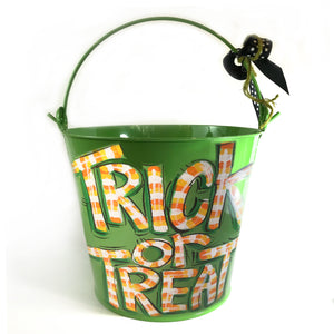 PAIL, Halloween Trick-Or-Treat' Pail on Green Bucket