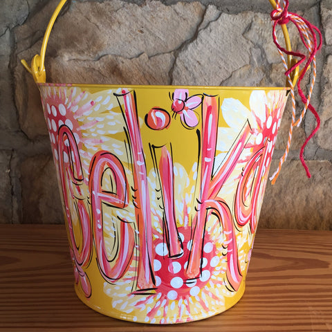 Yellow Daisy Bucket