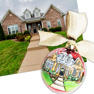 ORNAMENT, Painted House, Custom House Portrait Ornament