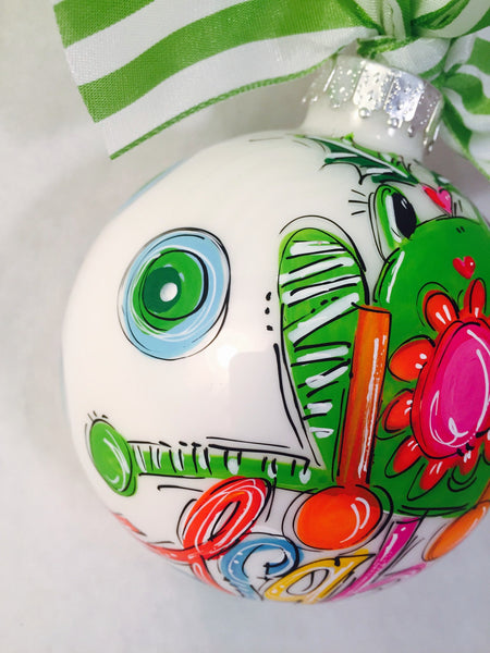 ORNAMENT, PERSONALIZED FROG Ornament