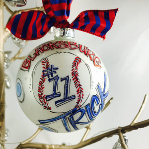 ORNAMENT, BASEBALL, Personalized CHRISTMAS Ornament