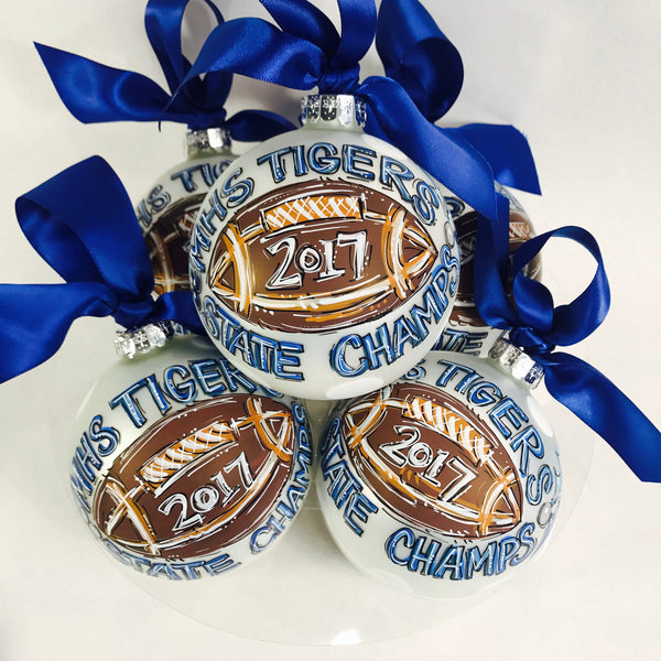 Football, Personalized CHRISTMAS Ornament