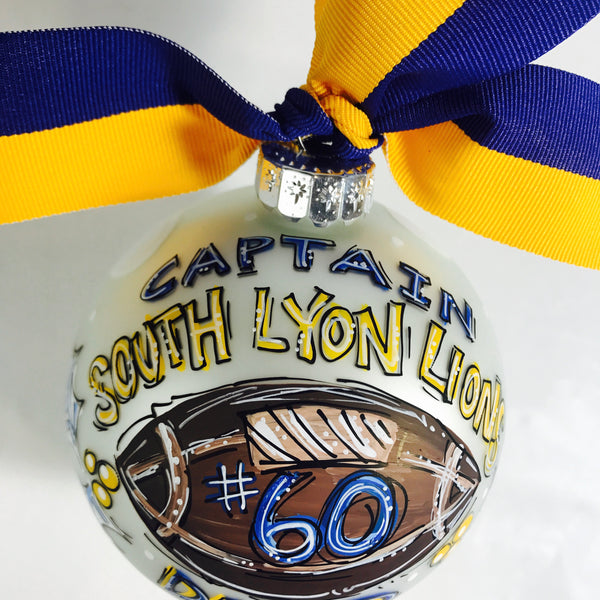 ORNAMENT, Football, Personalized CHRISTMAS Ornament