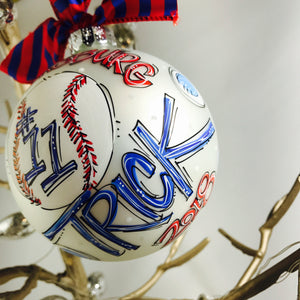 BASEBALL, Personalized CHRISTMAS Ornament