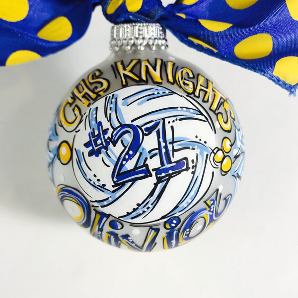 VOLLEYBALL, Personalized CHRISTMAS Ornament