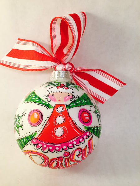 PERSONALIZED ELF GIRL Ornament