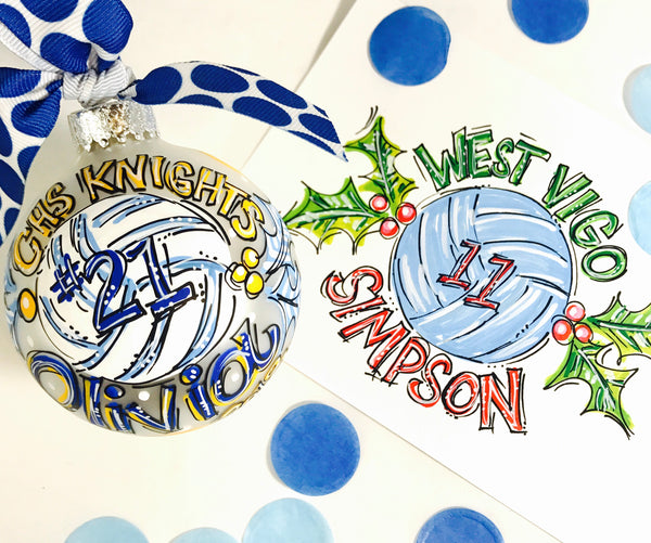 ORNAMENT, VOLLEYBALL, Personalized CHRISTMAS Ornament