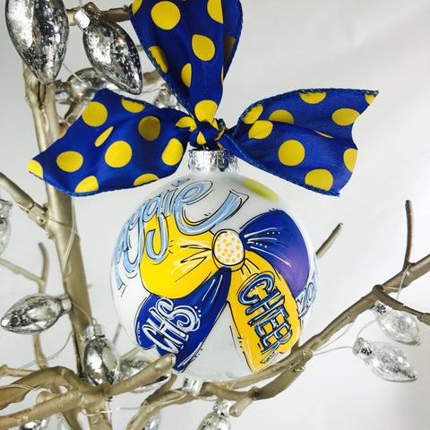 CHEER, Personalized CHRISTMAS Ornament