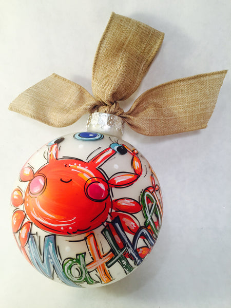 ORNAMENT, PERSONALIZED CRAB Ornament