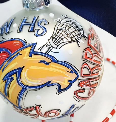 ORNAMENT, Lacrosse, Personalized CHRISTMAS Ornament, Custom