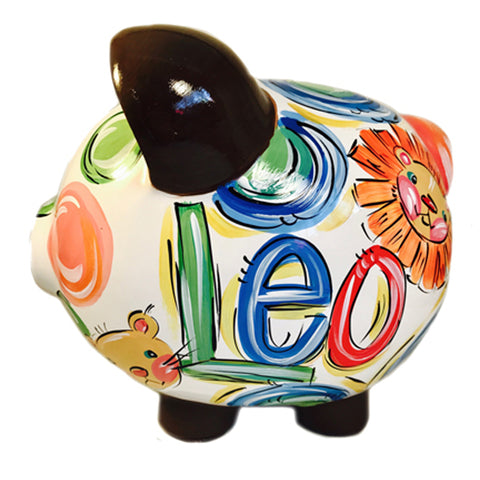 PIGGY BANK (Ceramic), Animals, Personalized Piggy Bank