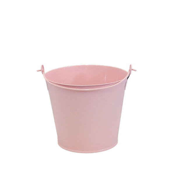 Personalized Easter Bucket, PINK Bunny Metal Bucket