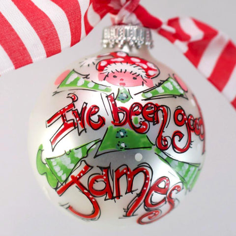 ORNAMENT, PERSONALIZED ELF 'I've Been Good' Ornament