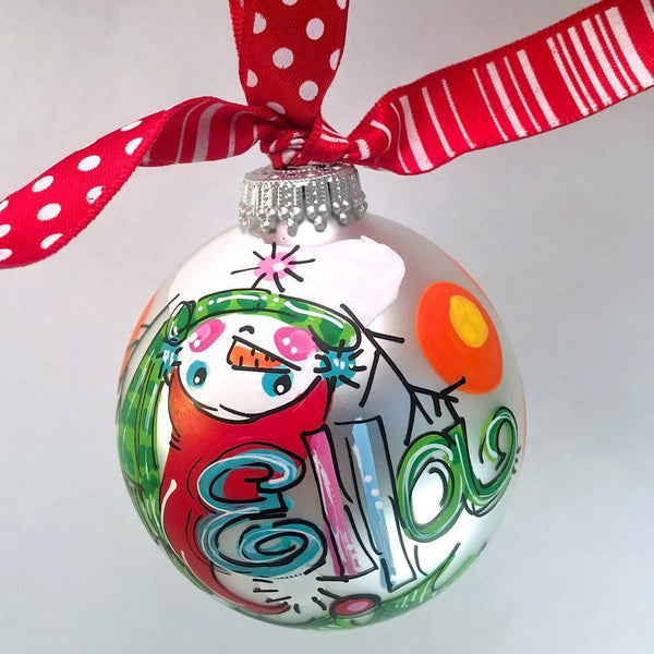 Snowman ornament, upside down snowman, personalized snowman ornament