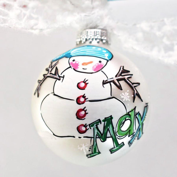 ORNAMENT, PERSONALIZED SNOWMAN Ornament