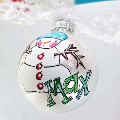 PERSONALIZED SNOWMAN Ornament