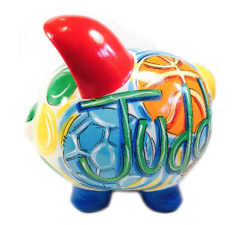 ALL-STAR, Personalized, Ceramic Piggy Bank