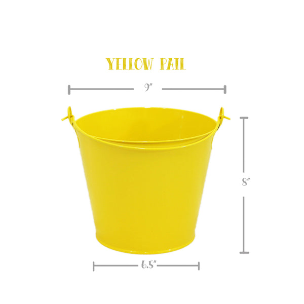 PAIL, YELLOW, Hand Painted, Personalized Bucket