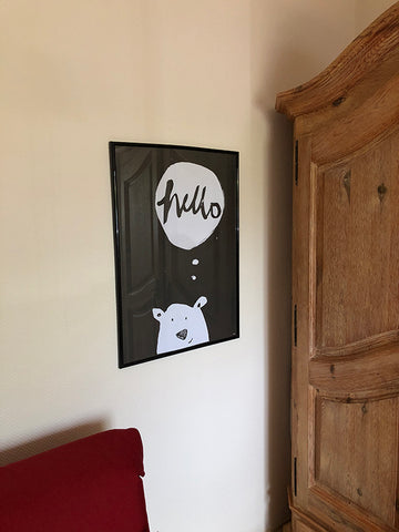 spoon. hello ice, bear art print ice bear poster ice bear art print eisbär poster at home