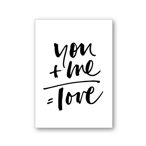 YOU AND ME - POSTCARD
