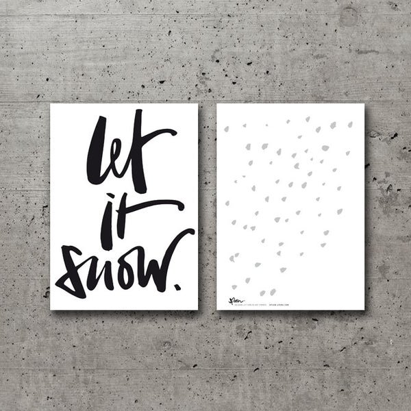 5 POSTCARDS - LET IT SNOW - spoon. - 3