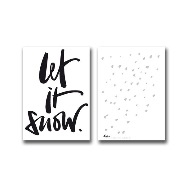 5 POSTCARDS - LET IT SNOW - spoon. - 1