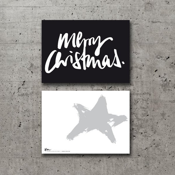 5 POSTCARDS - MERRY CHRISTMAS - spoon. - 3