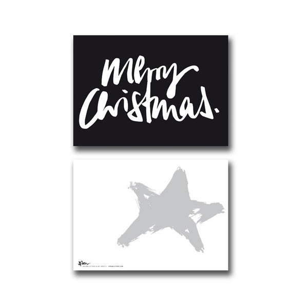 5 POSTCARDS - MERRY CHRISTMAS - spoon. - 1