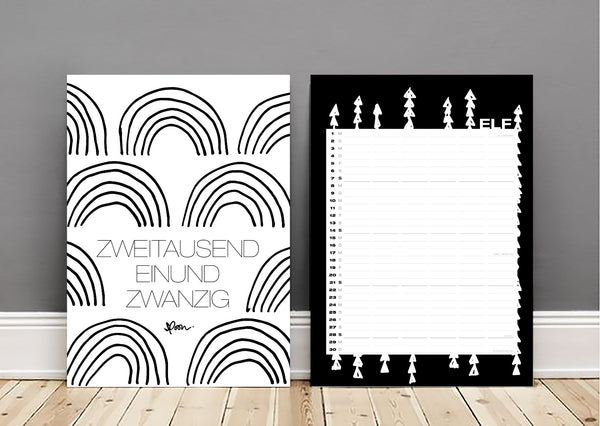calendar 2021 kalender 2021 spoon puristischer kalender 2021 schwarz weiß black and white