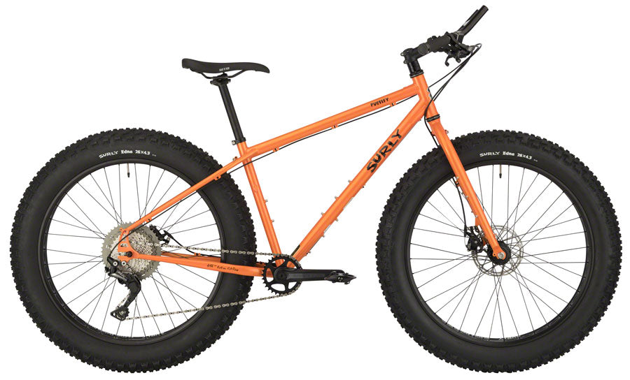 Surly Pugsley Fat Tire Mountain Bike - Candied Yam Orange - Medium