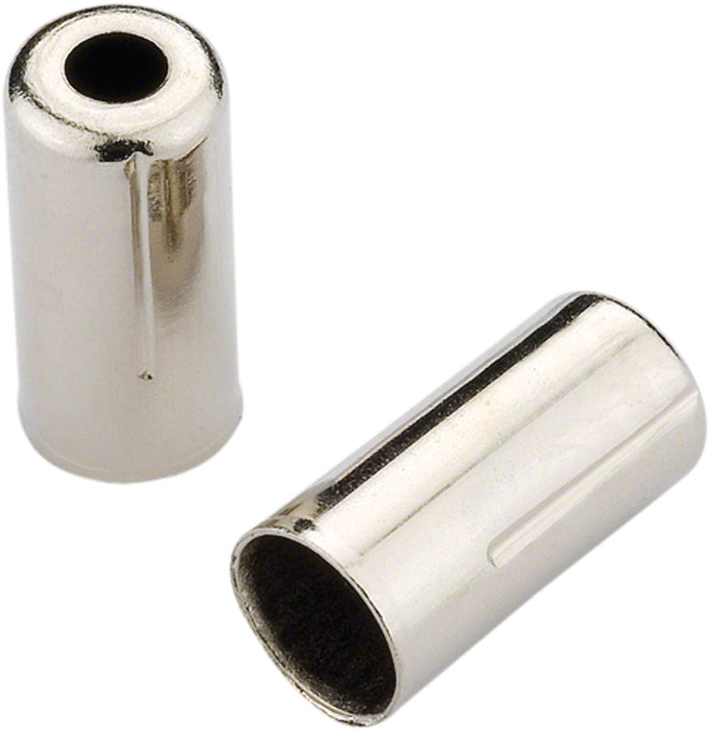 Jagwire 5mm Open Pre-Crimped End Caps for Cable Housing, Chome Plated