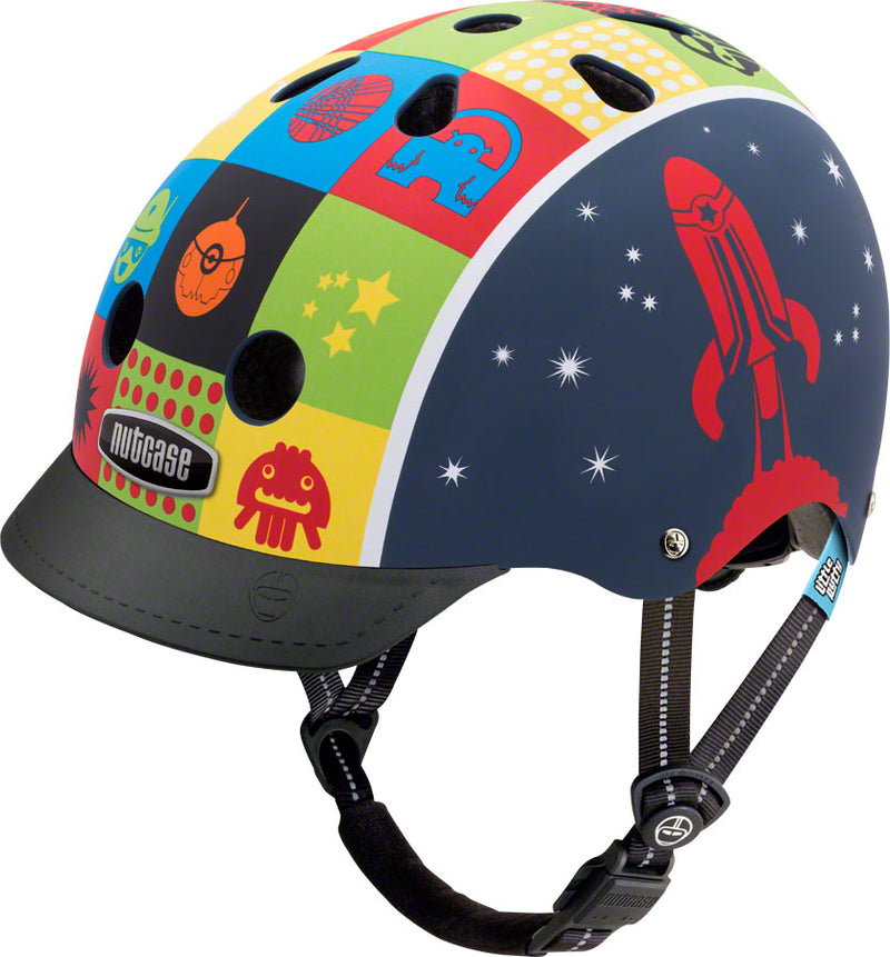Nutcase Little Nutty Helmet: Space Cadet Matte XS