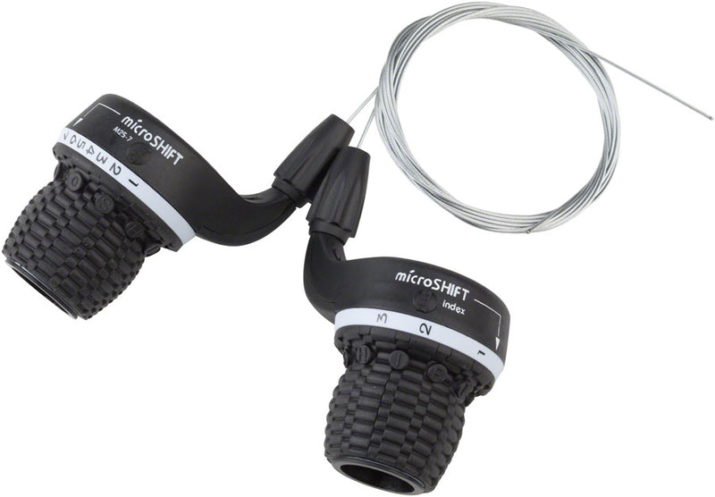 microSHIFT MS25 Twist Shifter Set, 7-Speed, Triple, Shimano Compatible
