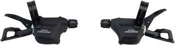 Shimano Deore M6000 2/3 x 10-Speed Clamp-Band Shift Lever Set, Black
