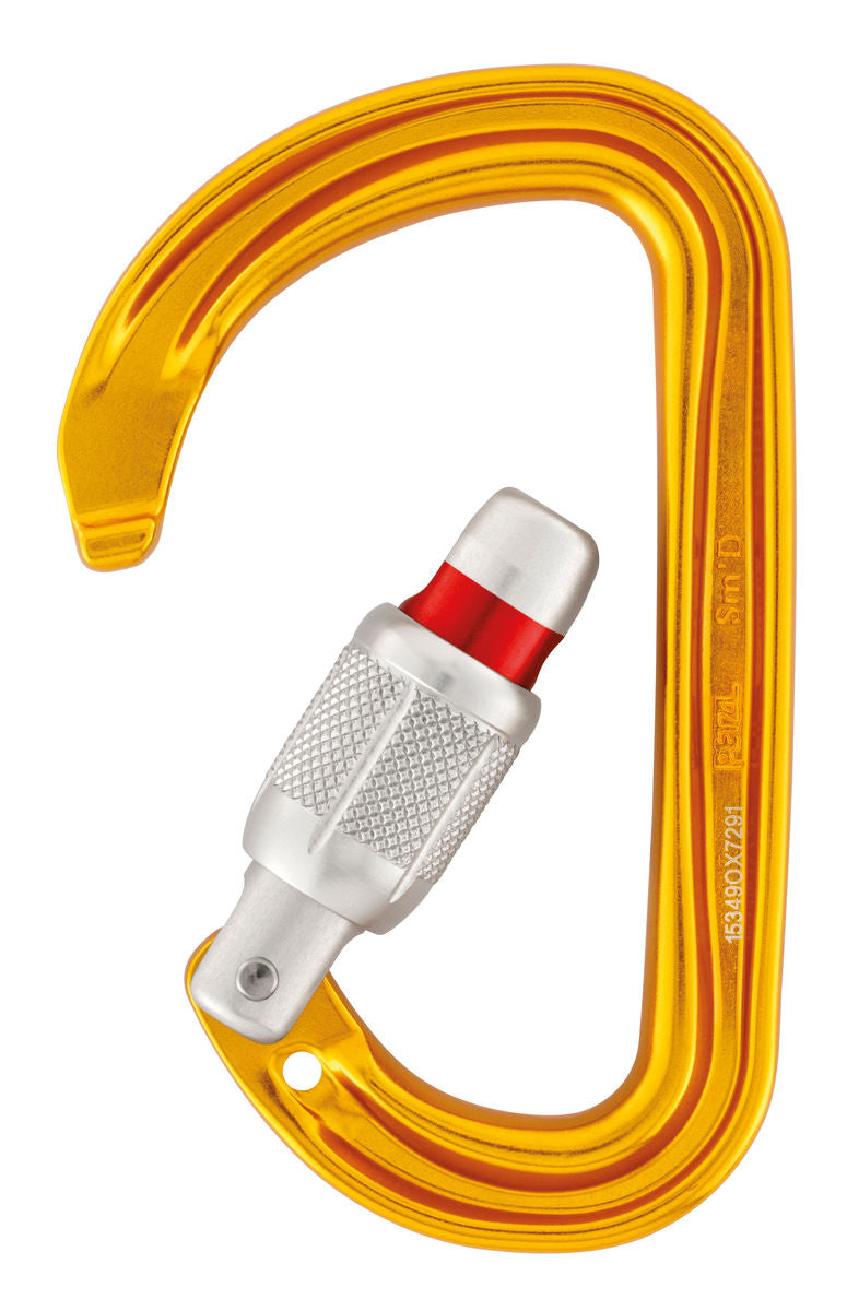 Petzl Sm'D D-shaped Locking Carabiner