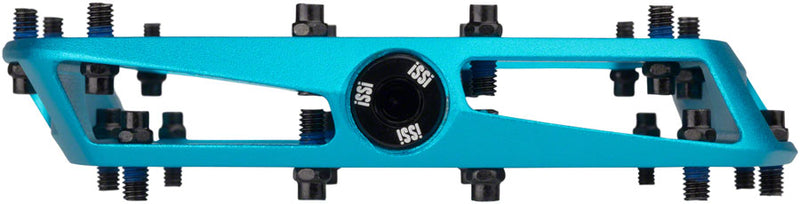 iSSi Stomp XL Flat Pedal, Blue Sandblasted Anodized