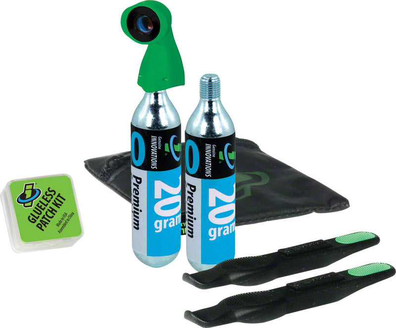 Tire Repair and Inflation Wallet Kit: Includes two 20g Co2 Cartridges