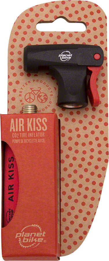 Planet Bike Air Kiss CO2 Inflator: Includes 16g Threaded Cartridge and Sleeve