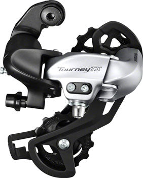 Shimano Tourney RD-TX800 Rear Derailleur - 8 Speed, Long Cage, Silver, Shimano Rear Direct Mount