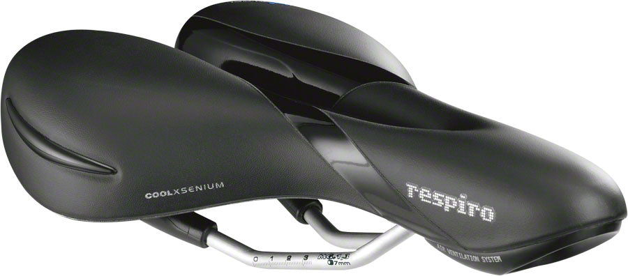 Selle Royal Respiro Moderate Saddle - Manganese, Black, Men's